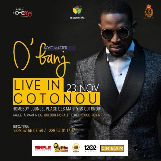 D'Banj en concert live à Cotonou