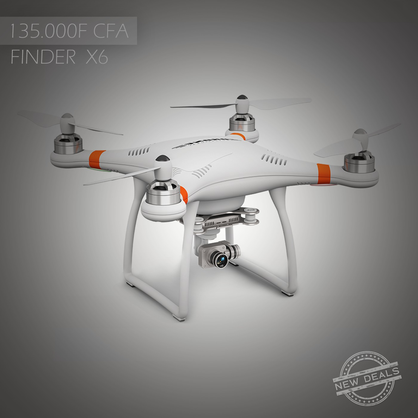 Drone professionnel Finder X6 HD 1080P